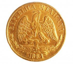20 Pesos 1881; AU; Gr.:34; ...