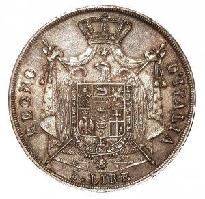 5 lire 1812 Puntali sagomati; AG; ...